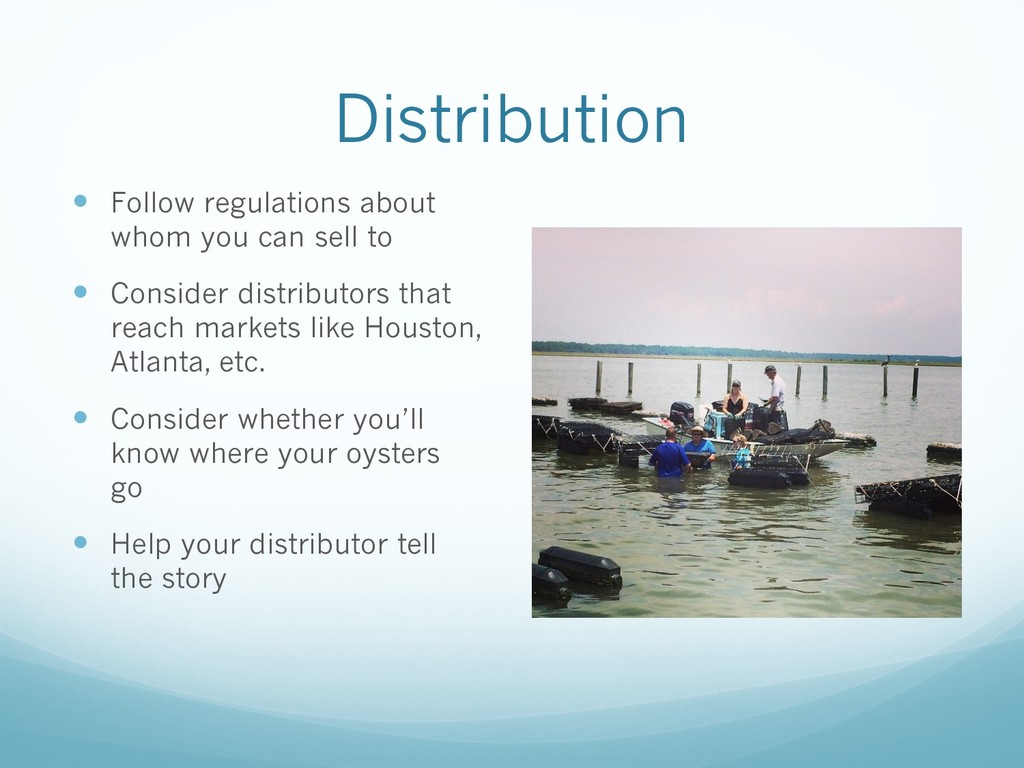 Distribution — Follow regulations about whom yo...