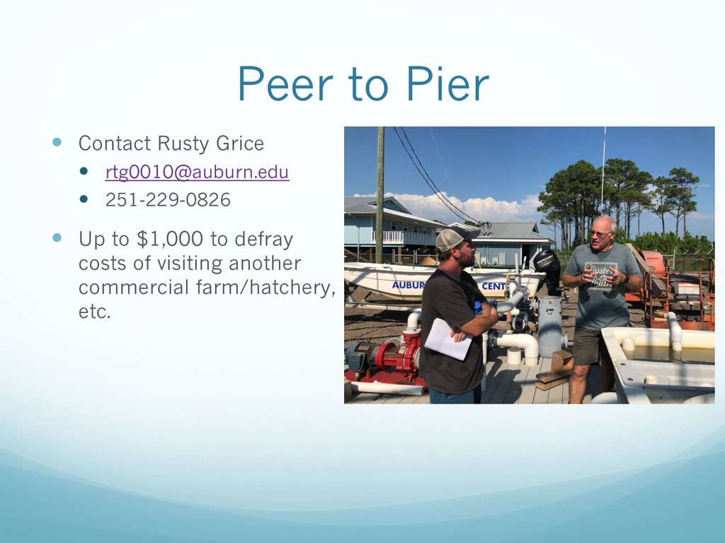 Peer to Pier — Contact Rusty Grice — rtg0010@au...