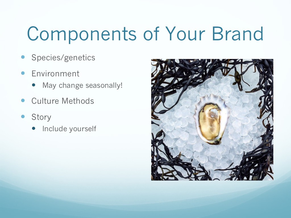 Components of Your Brand — Species/genetics — E...