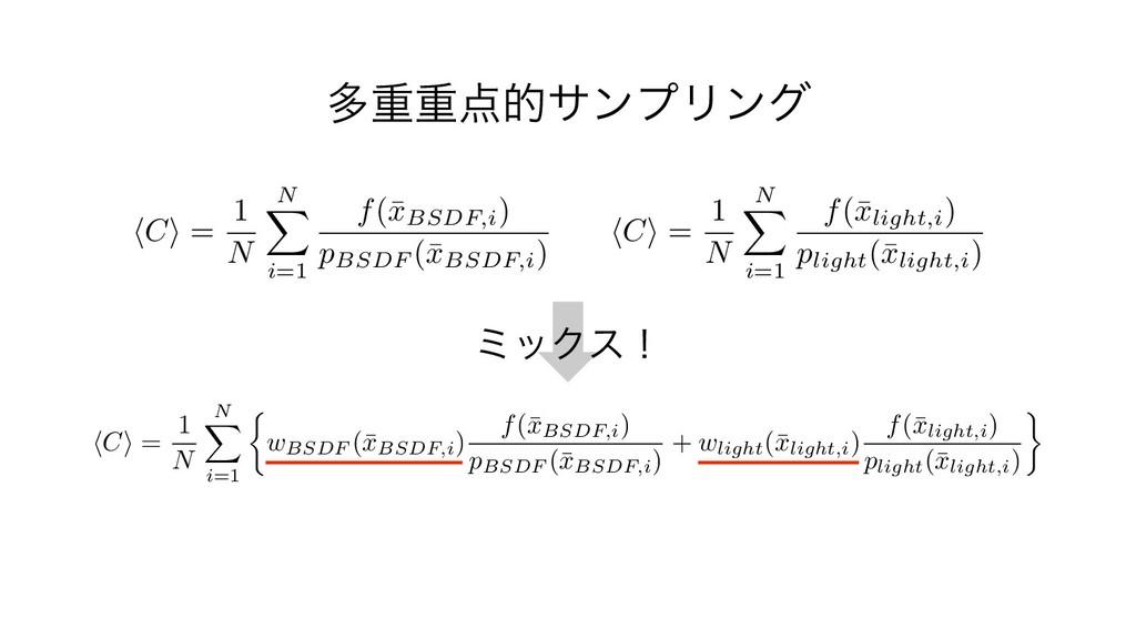 ଟॏॏతαϯϓϦϯά C = 1 N N i=1 f(¯ xlight,i ) pligh...