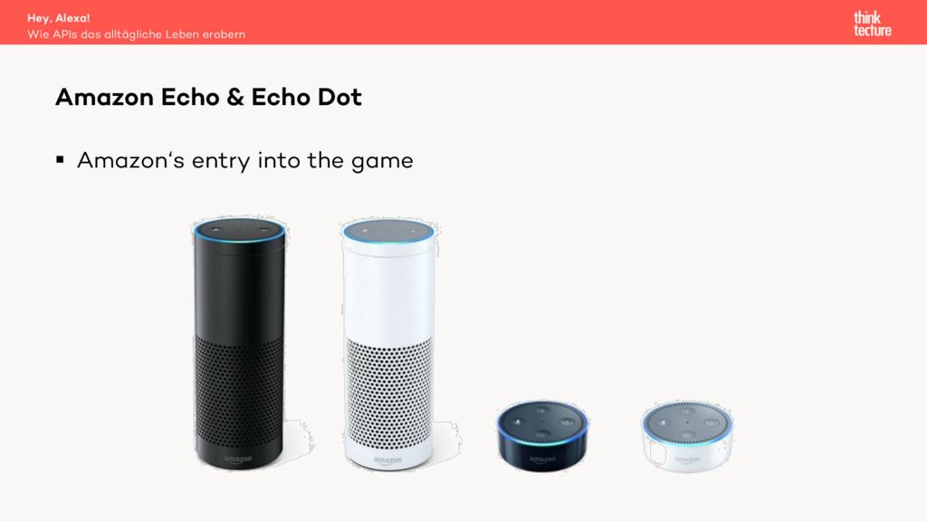 § Amazon's entry into the game Amazon Echo & Ec...