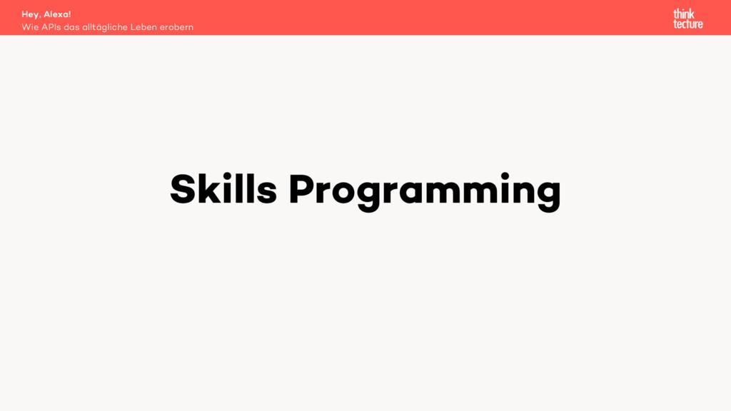 Skills Programming Wie APIs das alltägliche Leb...