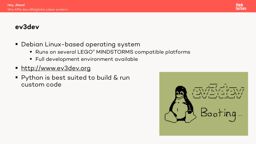 § Debian Linux-based operating system § Runs on...