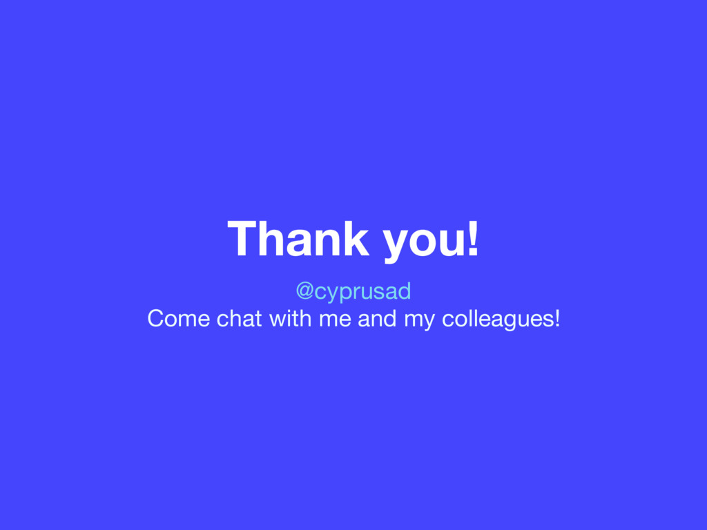 Thank you! @cyprusad  Come chat with me and my ...
