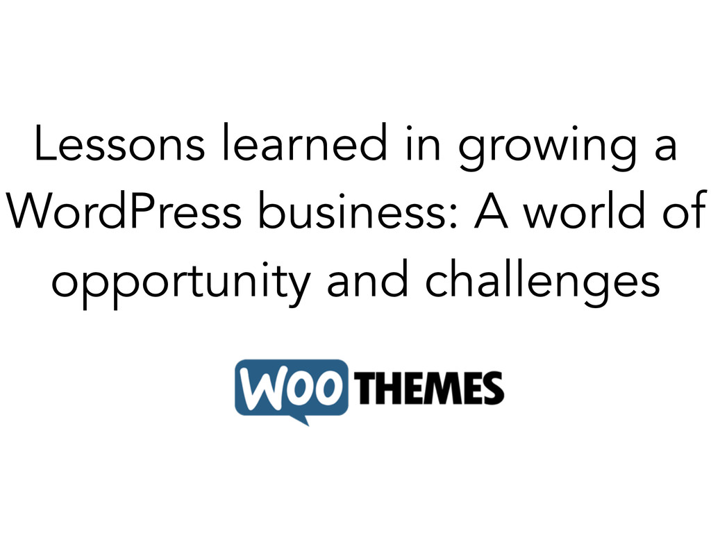 Lessons learned in growing a WordPress business...
