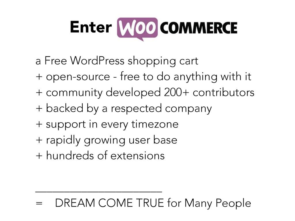 Enter a Free WordPress shopping cart + open-sou...