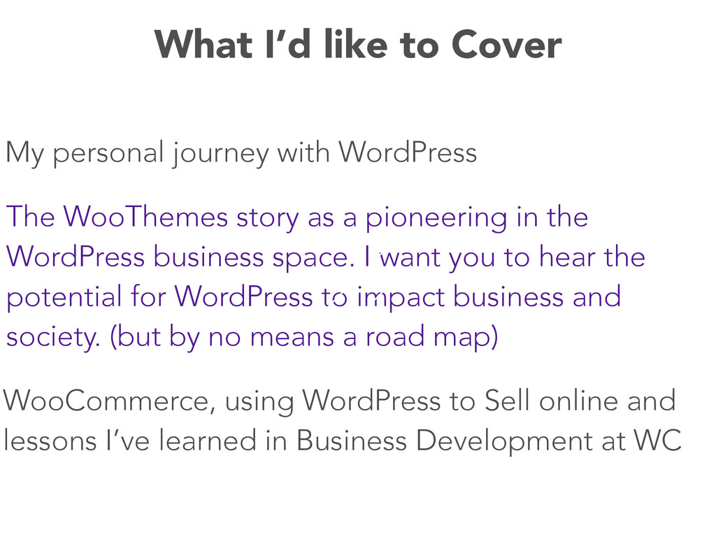 My personal journey with WordPress The WooTheme...
