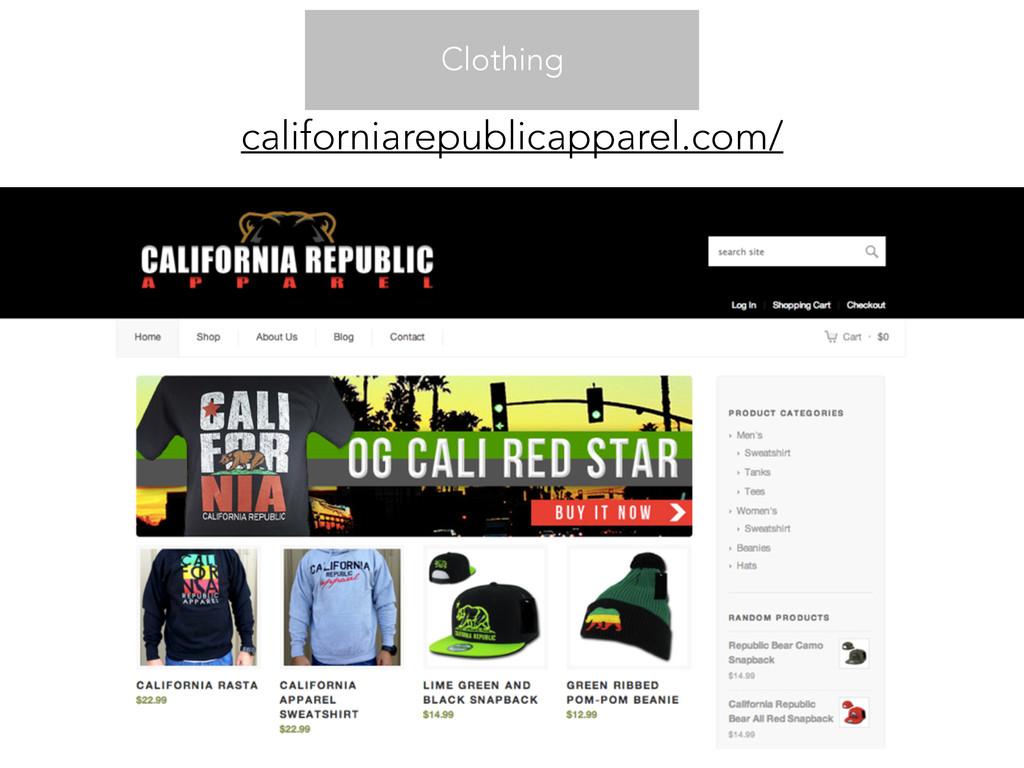 Clothing californiarepublicapparel.com/