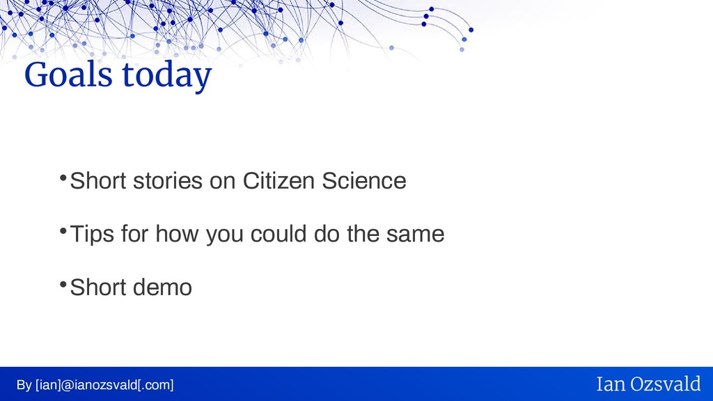  Short stories on Citizen Science  Tips for h...