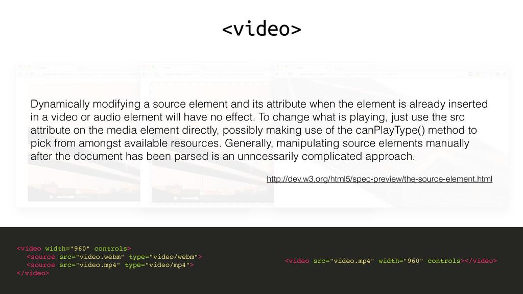 "<video> <video width=""960"" controls> <source sr..."