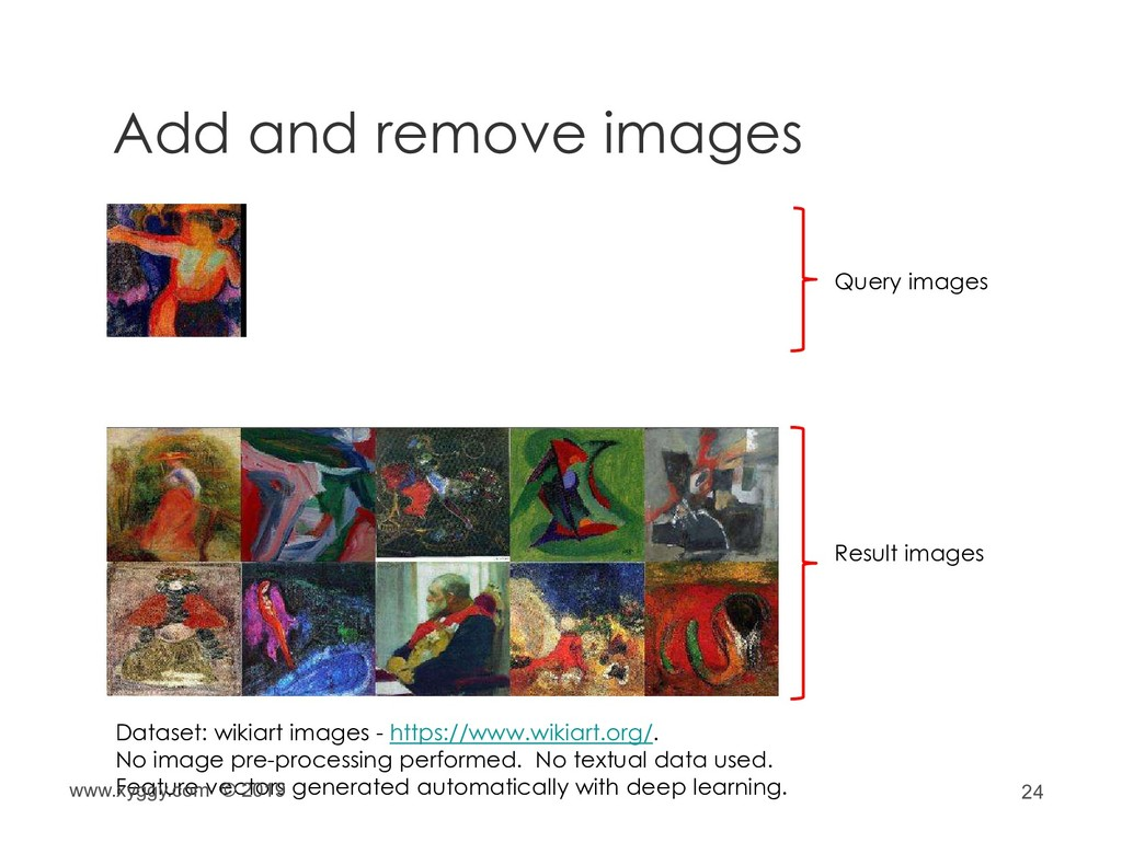 24 Add and remove images Query images Result im...