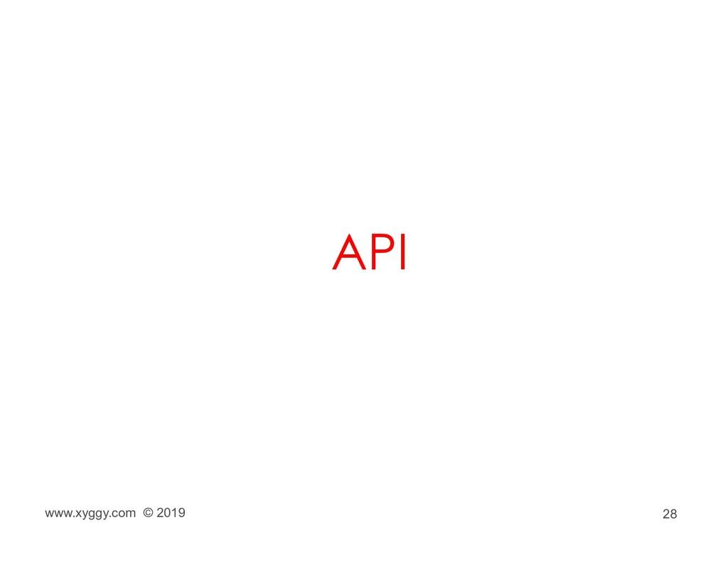 28 API www.xyggy.com © 2019