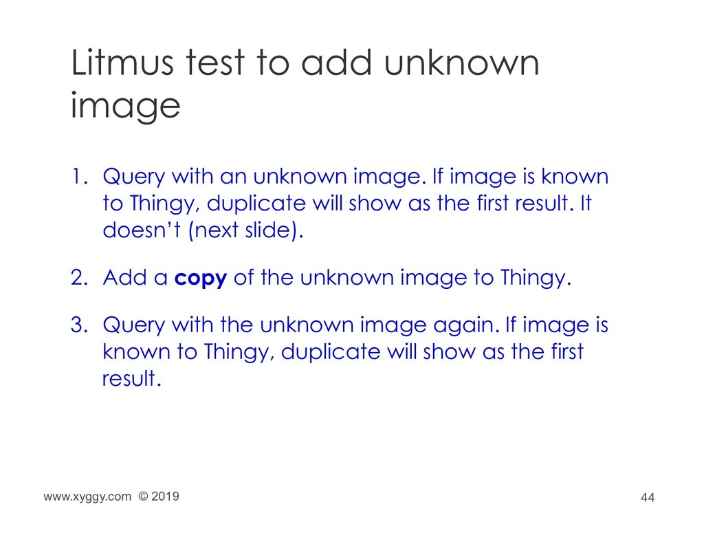 44 Litmus test to add unknown image 1. Query wi...
