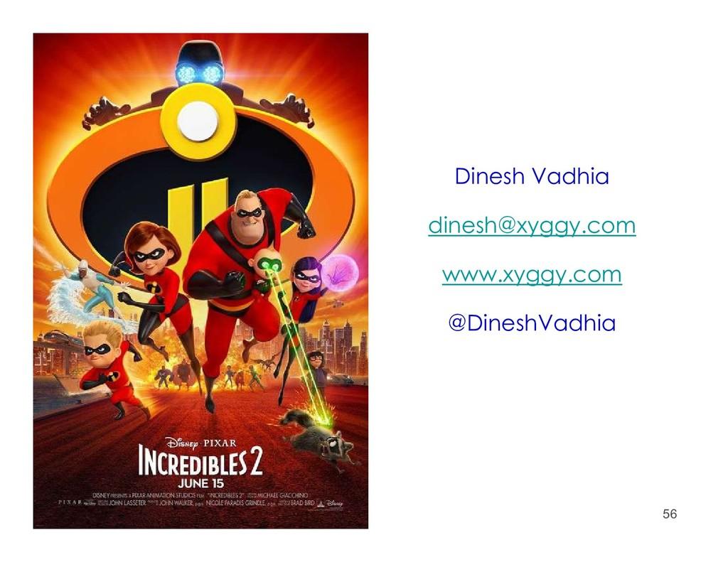 56 Dinesh Vadhia dinesh@xyggy.com www.xyggy.com...