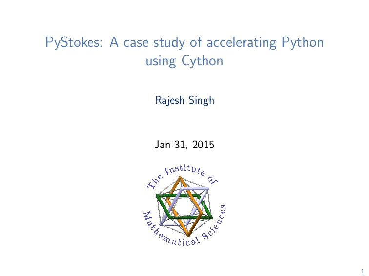 PyStokes: A case study of accelerating Python u...