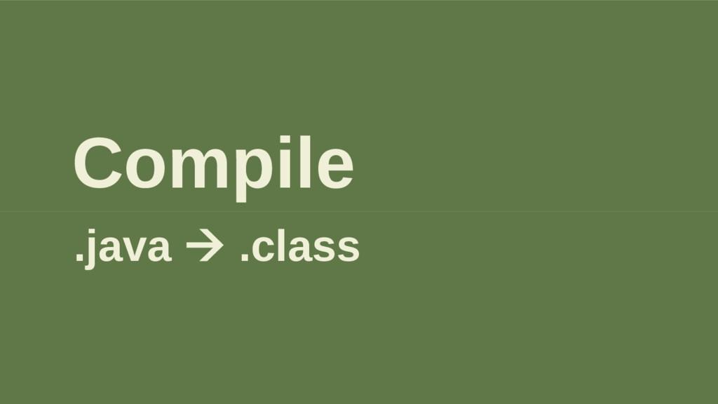 Compile .java à .class