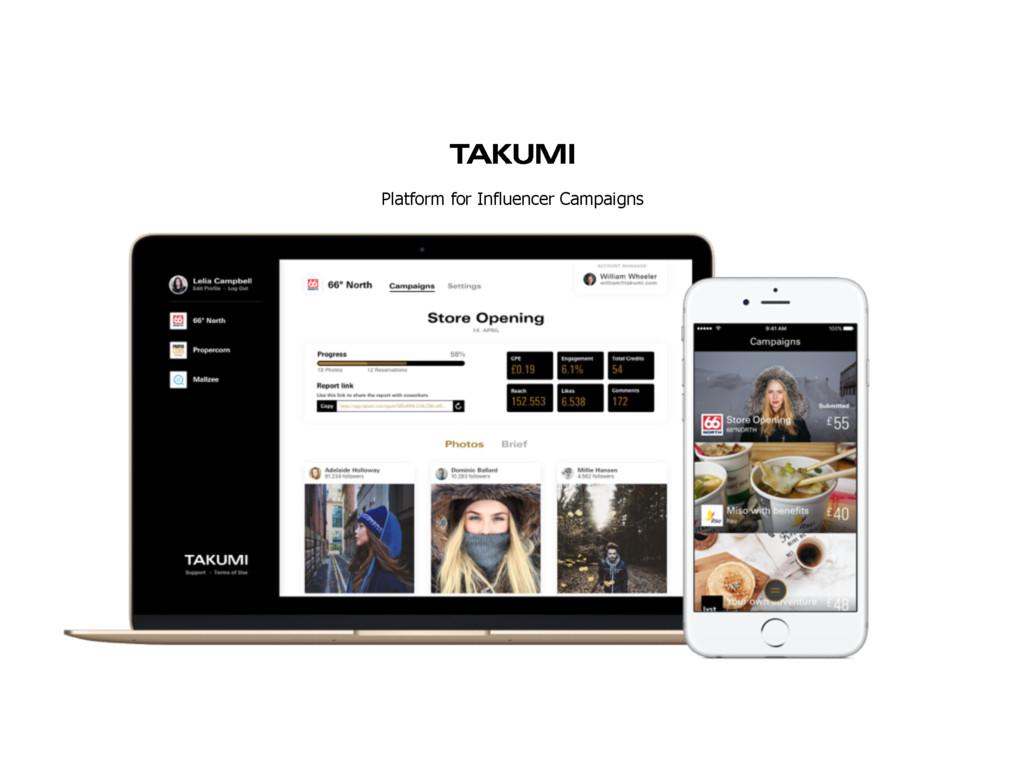 Platform for Influencer Campaigns