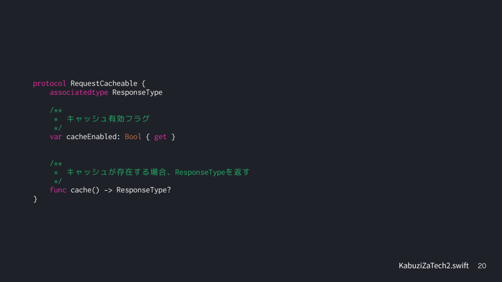 protocol RequestCacheable { associatedtype R...
