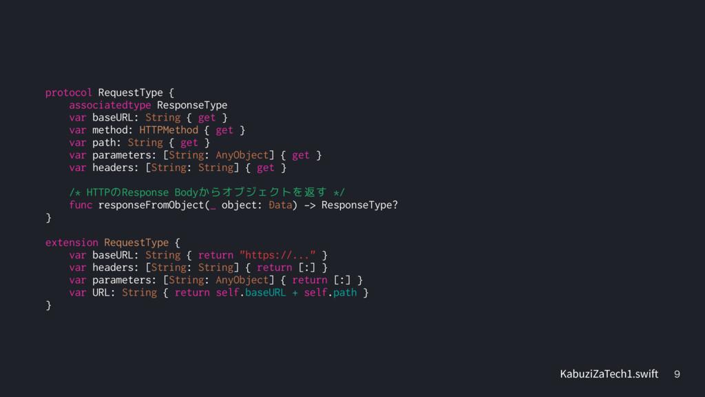 protocol RequestType { associatedtype Respons...