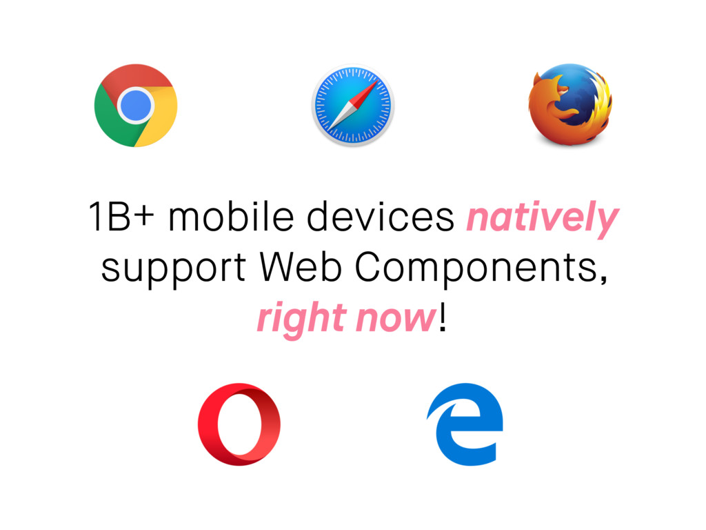 1B+ mobile devices natively support Web Compone...