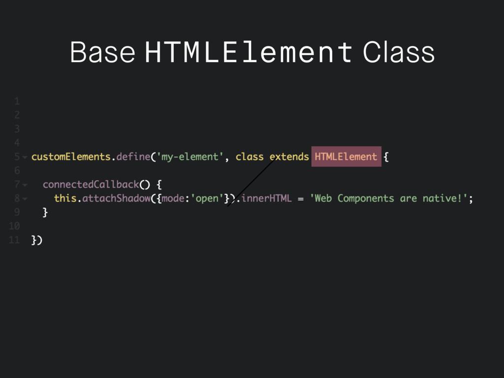 Base HTMLElement Class