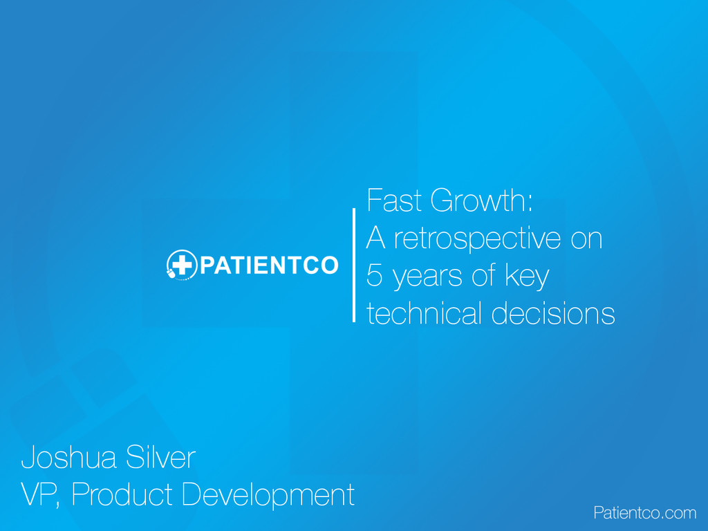 Fast Growth: A retrospective on 5 years of key ...