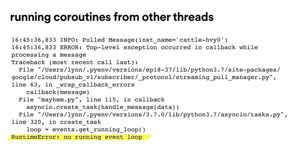 running coroutines from other threads 16:45:36,...