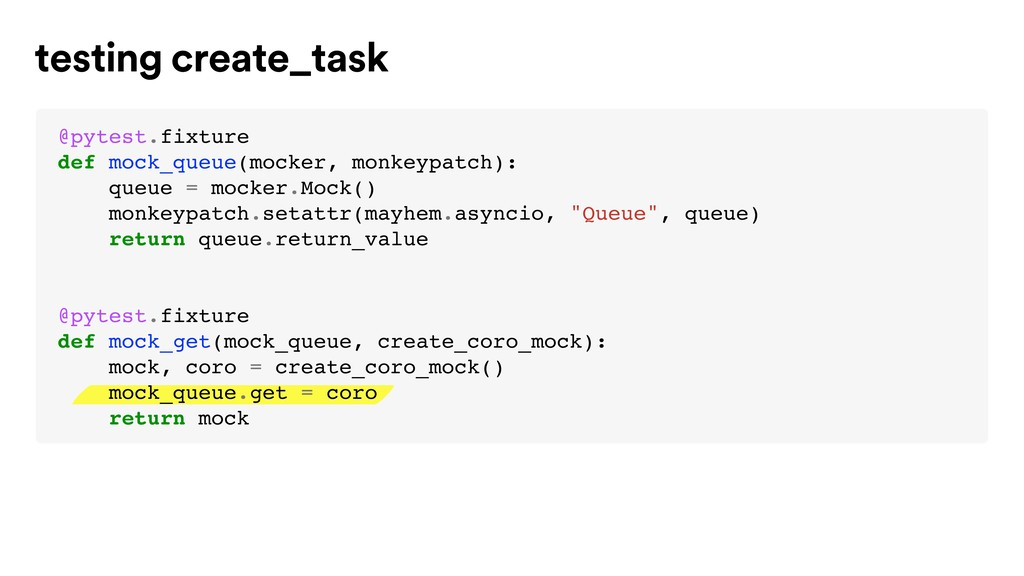 testing create_task @pytest.fixture def mock_qu...