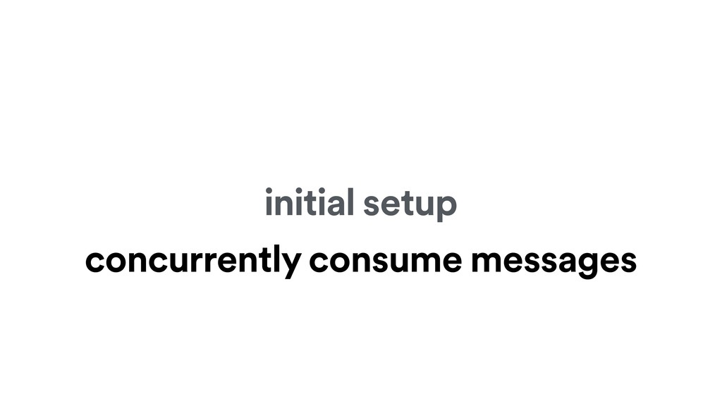 initial setup concurrently consume messages