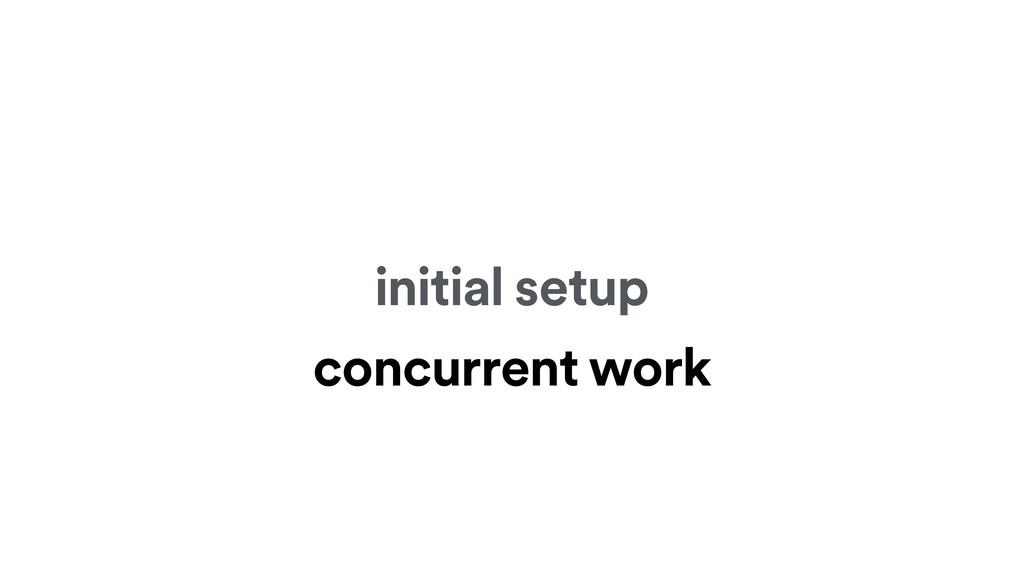 initial setup concurrent work