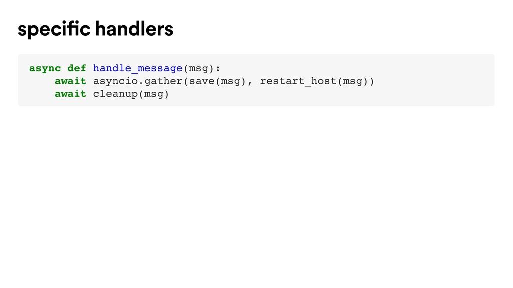 async def handle_message(msg): await asyncio.ga...