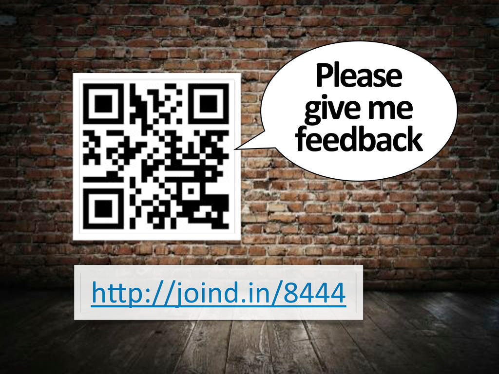 """h""""p://joind.in/8444 Please& give&me& feedback"""