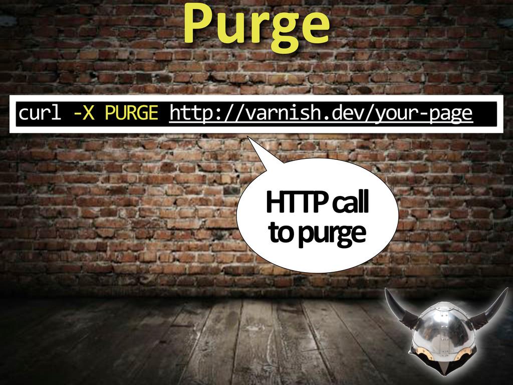 Purge HTTP&call& to&purge curl%3X%PURGE%http://...