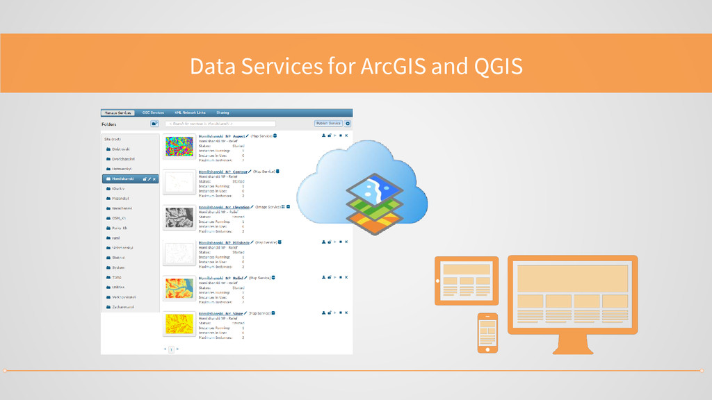 Data Services for ArcGIS and QGIS