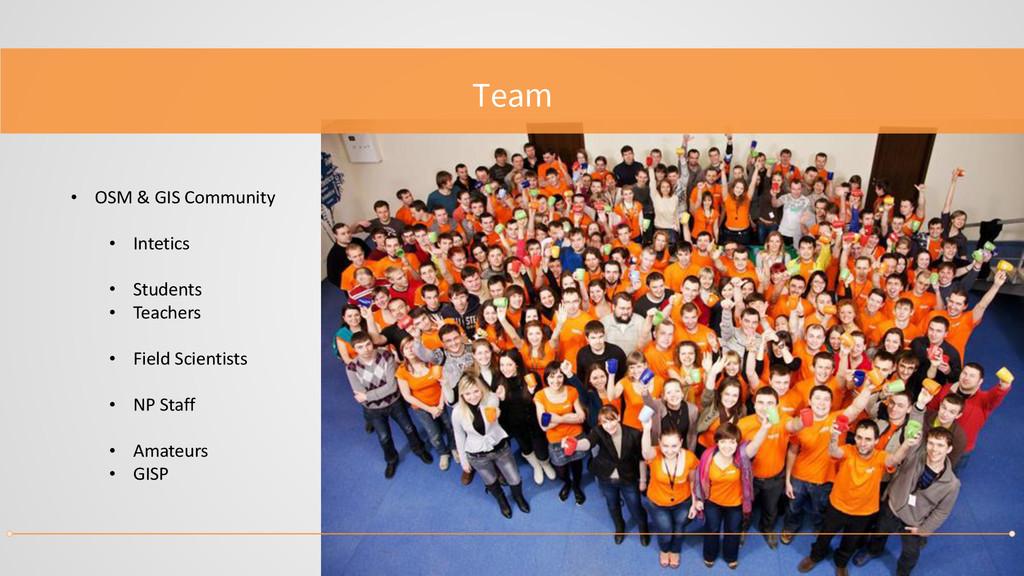Team • OSM & GIS Community • Intetics • Student...