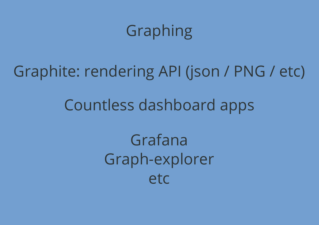 Graphing Graphite: rendering API (json / PNG / ...