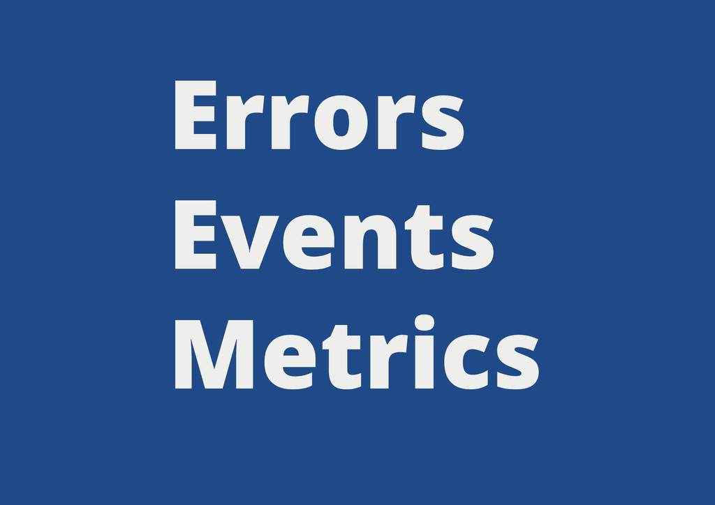Errors Events Metrics