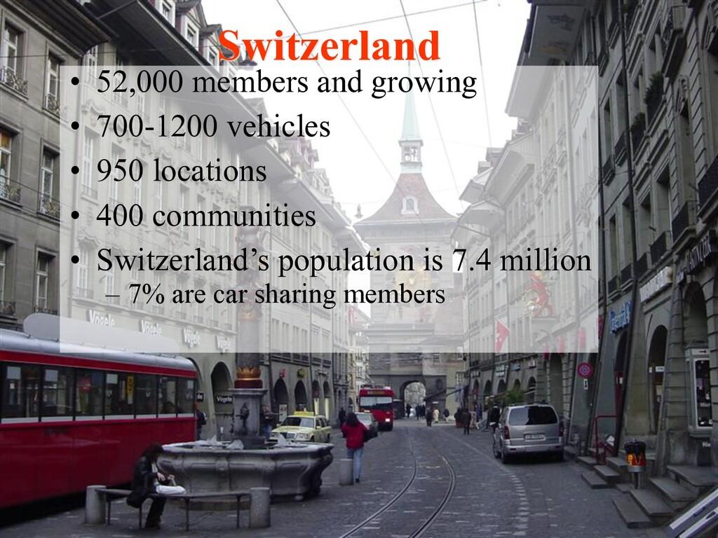 • 52,000 members and growing • 700-1200 vehicle...