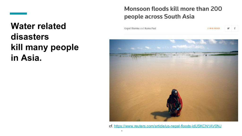 Water related disasters kill many people in Asi...