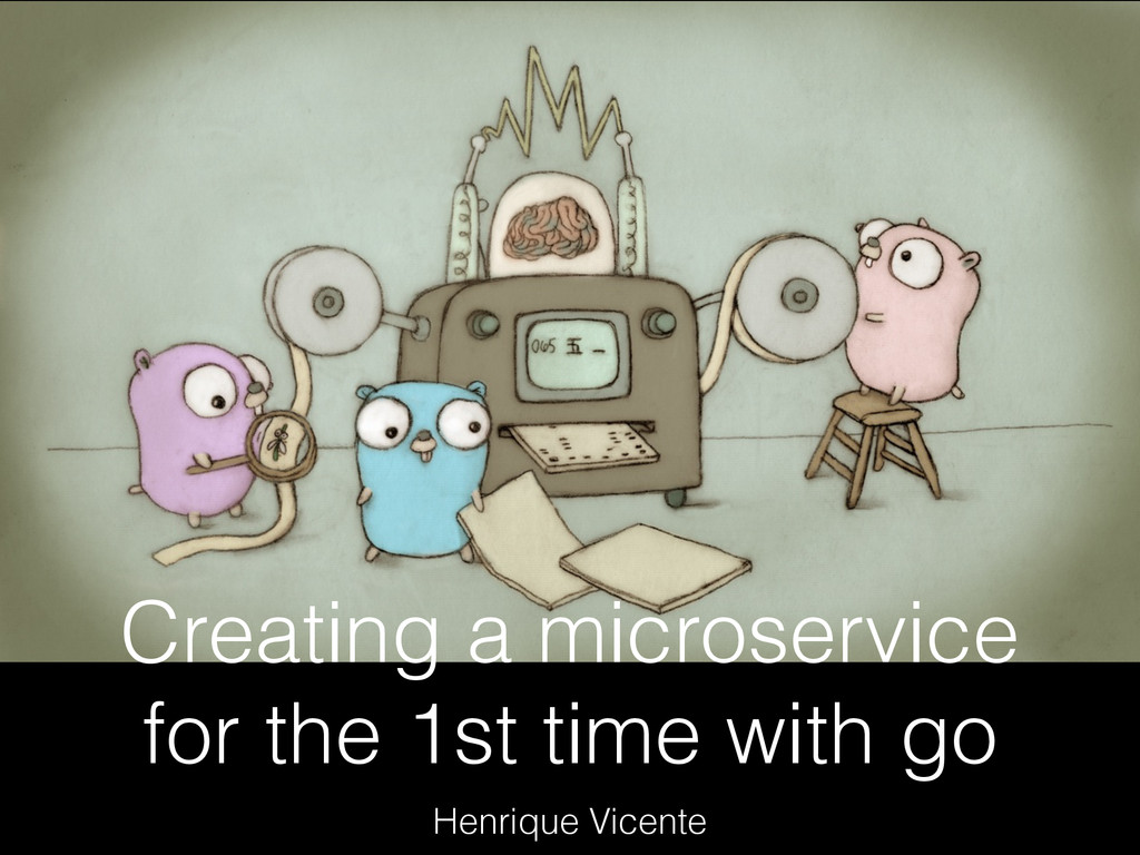 Creating a microservice for the 1st time with g...
