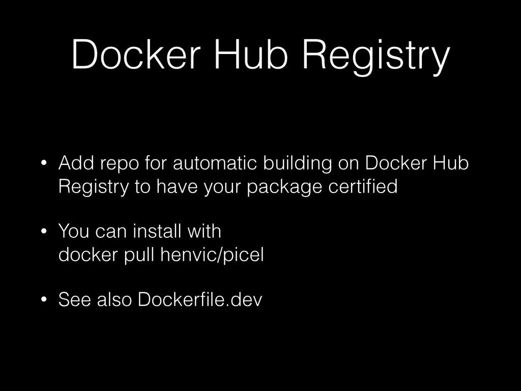 Docker Hub Registry • Add repo for automatic bu...