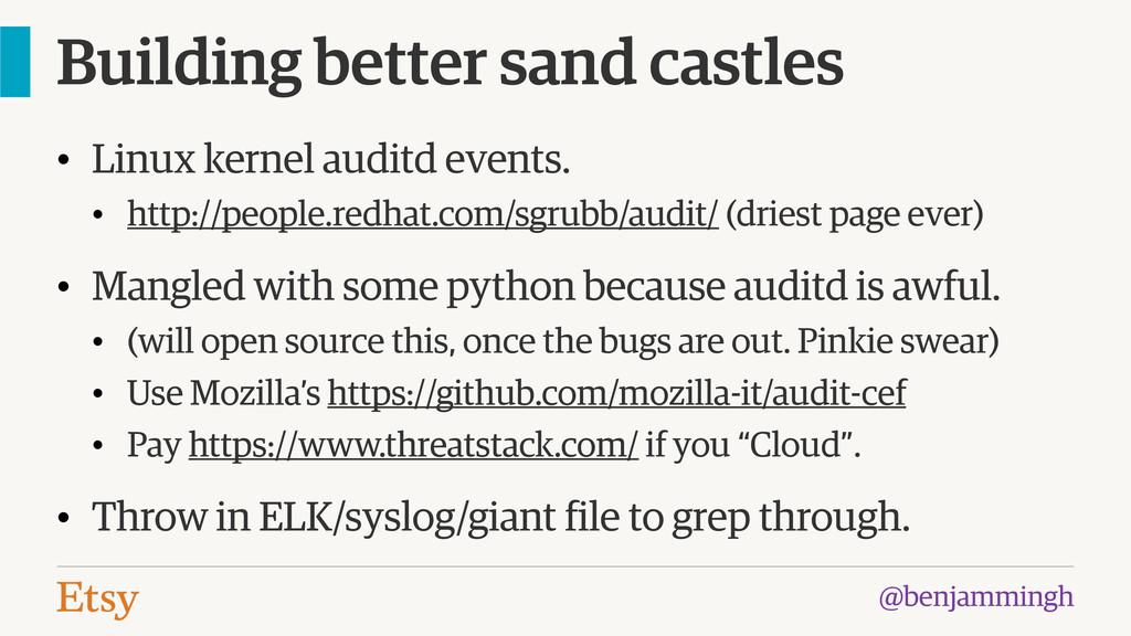 @benjammingh Building better sand castles • Lin...