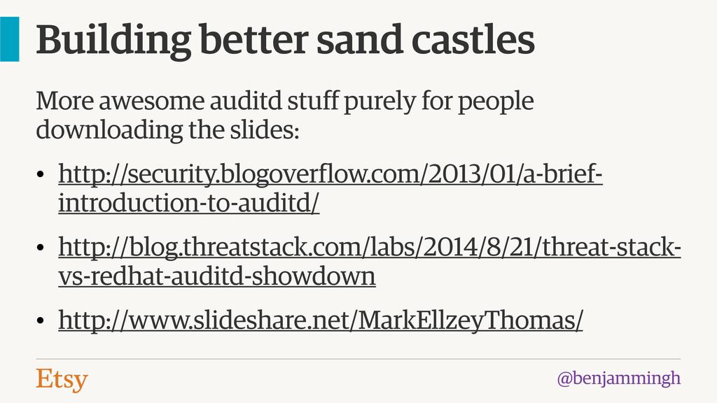 @benjammingh Building better sand castles More ...