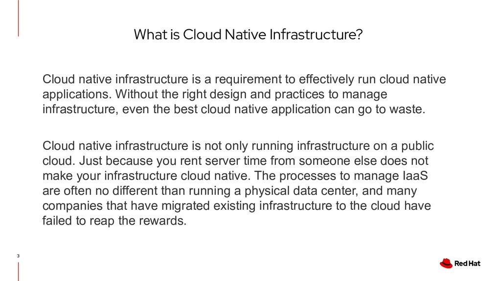 What is Cloud Native Infrastructure? 3 Cloud na...
