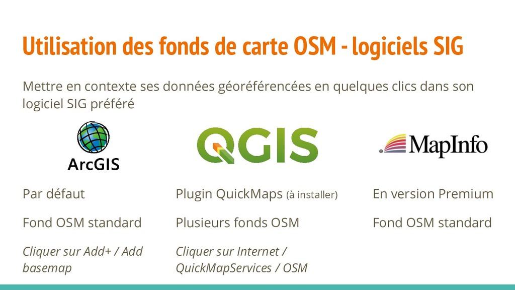 Utilisation des fonds de carte OSM - logiciels ...