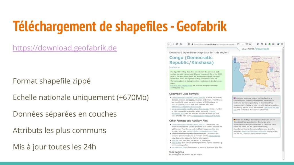Téléchargement de shapefiles - Geofabrik https:/...