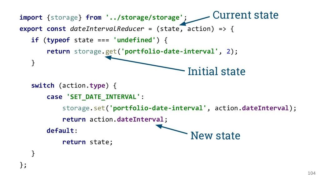 104 import {storage} from '../storage/storage';...
