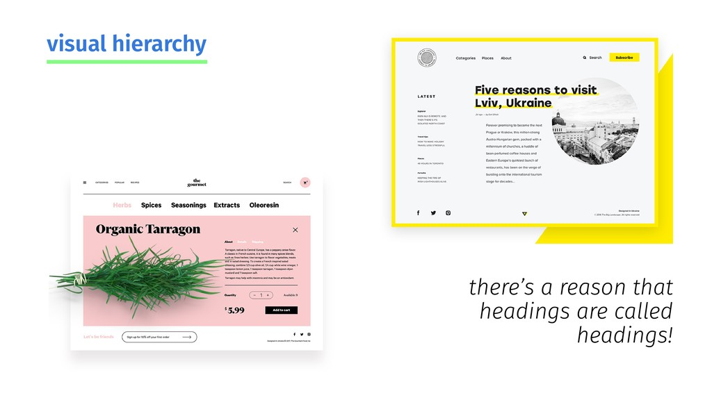 visual hierarchy there's a reason that headings...