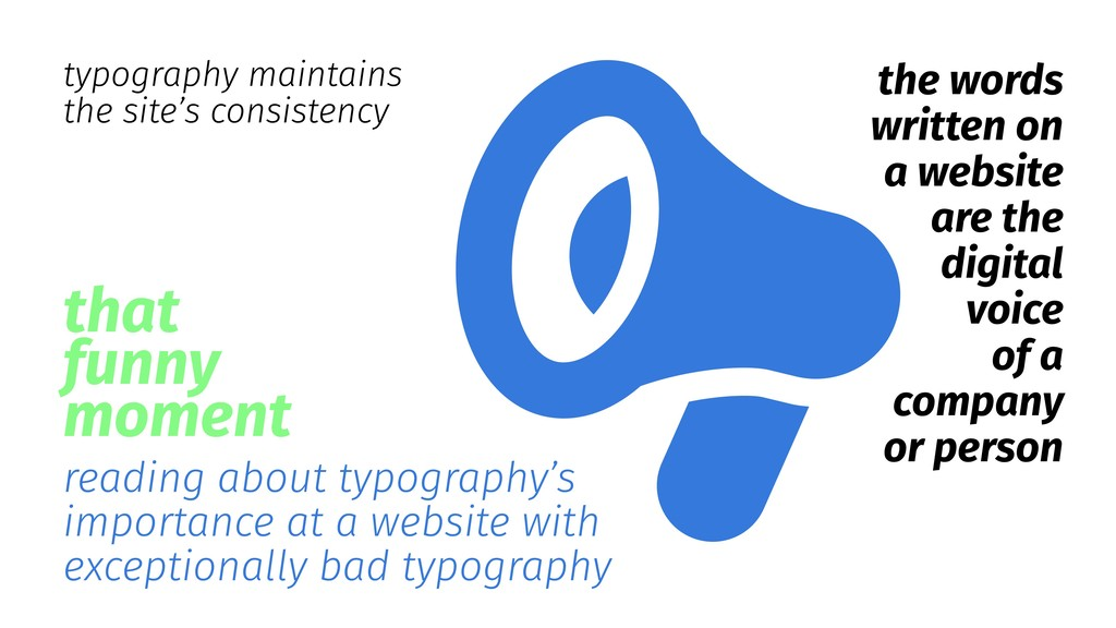 reading about typography's importance at a webs...