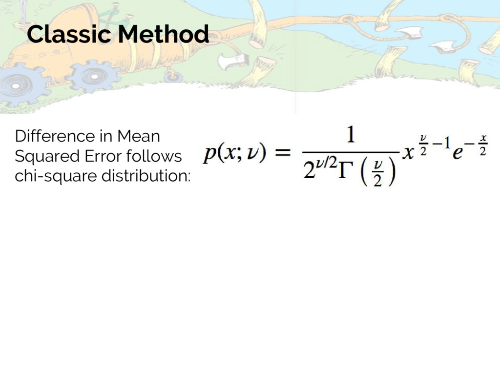 Classic Method Difference in Mean Squared Error...